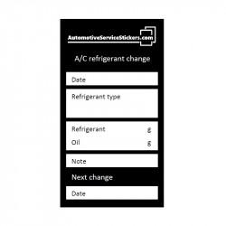 A/C refrigerant change stickers 100 pieces