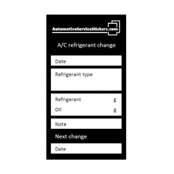 A/C refrigerant change stickers 20 pieces
