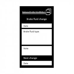 Brake fluid change stickers 50 pieces